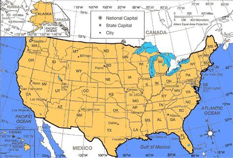 USA Lat Long Map
