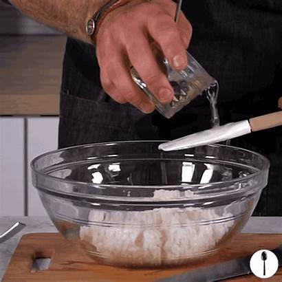 Poke Bowl Rice Vinegar Step Pour Mirin