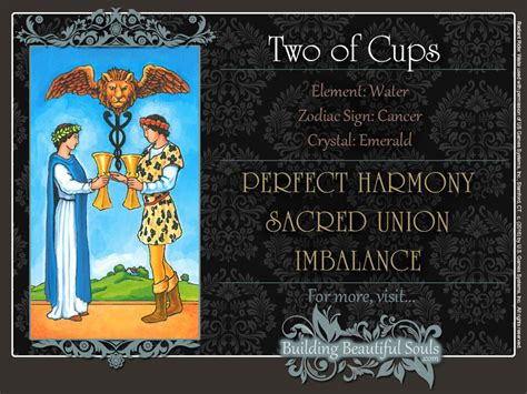 The pictorial images on all the cards allow interpretations without the need to repeatedly consult explanatory text. The Two of Cups Tarot Card Meanings | Tarot Reading