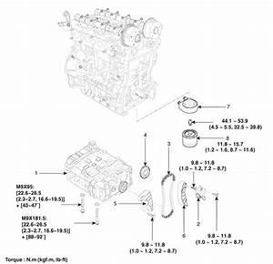 Kia Optima  Balance Shaft  U0026 Oil Pump  Components And