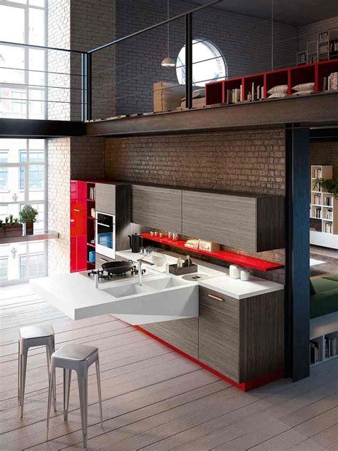cuisine design petit espace cuisine ouverte sur salon très design de snaidero