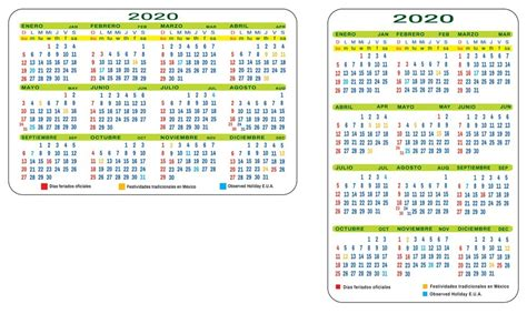 calendario de bolsillo en formato digital