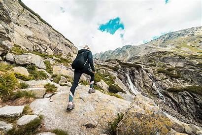 Hiking Mountain Employee Woman Health Setting Goal