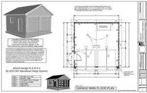 garage floor plans free easy to follow garage 20 x 20 x 9 plan free house plan reviews