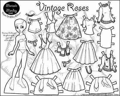 Paper Dolls Printable Coloring Doll Marisole Pages