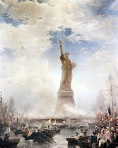 Statue of Liberty On Fourth of July