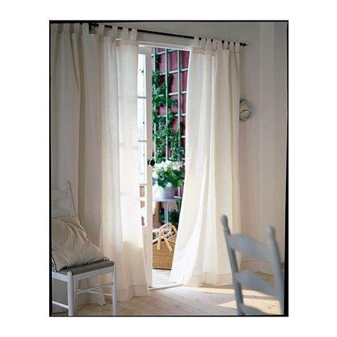 Lenda Rideaux+embrasses, 1 Paire, Blanchi Blanc Ikea