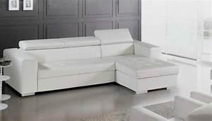 Canapé D Angle Cuir Blanc : canap d 39 angle cuir ~ Melissatoandfro.com Idées de Décoration