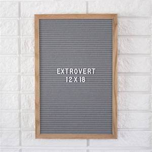 ready to ship 12 x 18 grey extrovert letter board With grey letter board