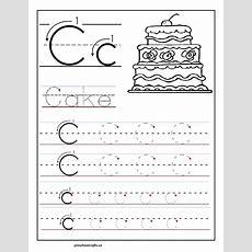 Printable  Letter  C  Tracing  Worksheets  For  Preschool  Preschool Crafts