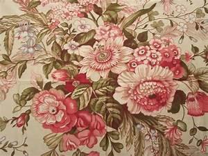 vintage floral print cotton chintz fabric lot, crisp