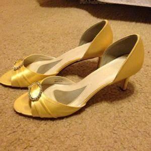 57% off David's Bridal Shoes - David's Bridal canary ...