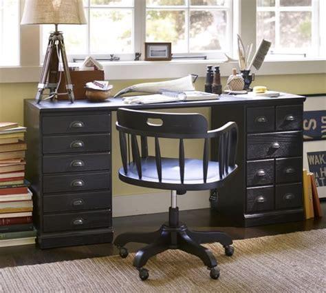 desk with printer cabinet printer 39 s rectangular desk set pottery barn