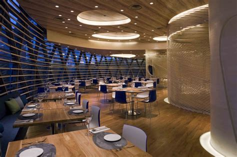 circular dining sets the nautilus project restaurant with awesome interior