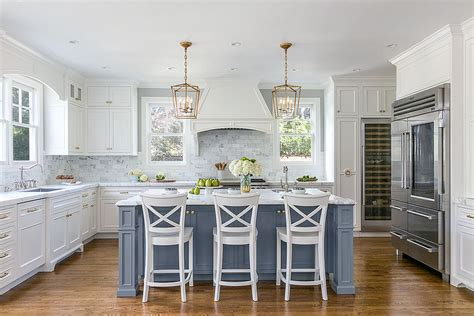 blue kitchen island 25 colorful kitchen island ideas to enliven your home 1735
