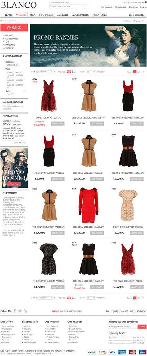 caracteristicas template template magento blanco op 231 227 o para lojas virtuais de moda