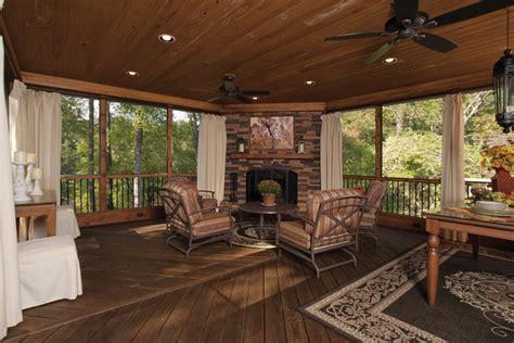 screened in back porches traditional porch atlanta