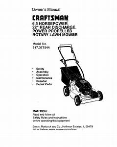 Craftsman Lawn Mower 917 377544 User Guide