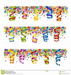 Confetti And Serpentine Banner Stock Vector Image 47874484