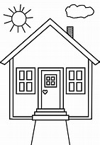 HD Wallpapers Coloring Page House Preschool