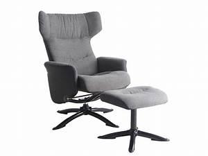 Repose Pied Salon : fauteuil de relaxation repose pied kansas coloris gris en tissu pu vente de tous les ~ Teatrodelosmanantiales.com Idées de Décoration