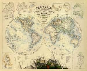 Alte Weltkarte Poster : karte von welt vintage weltkarte world karte von ancientshades mapas antigos pinterest ~ Markanthonyermac.com Haus und Dekorationen