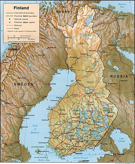 map  finland geography