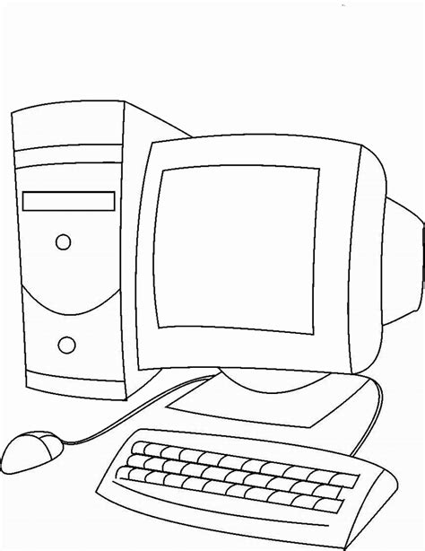 Coloring On Computer by Computers Coloring Pages