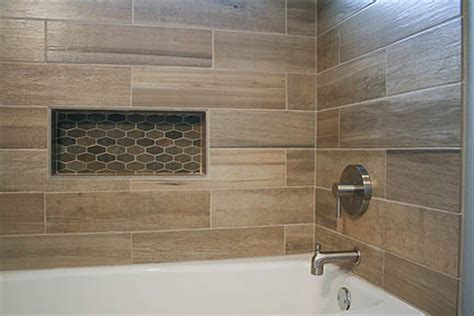 rustic bathtub tile surround modern rustic slate and teak guest bathroom