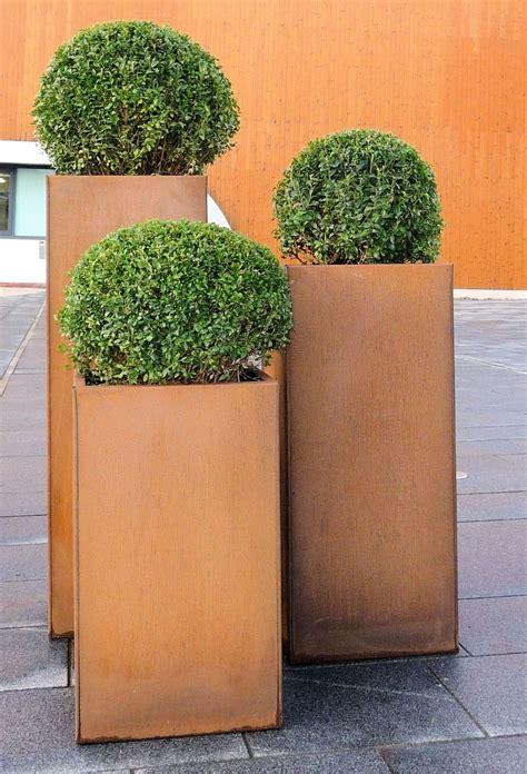 corten steel planter corten steel trough planters from potstore co uk