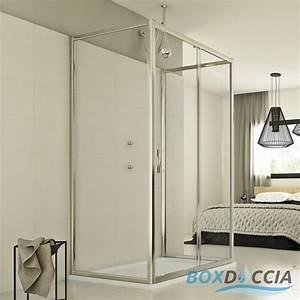 Cabine Douche 3 Parois Vitrées : cabine de douche 3 parois porte unique coulissantecarr ~ Premium-room.com Idées de Décoration