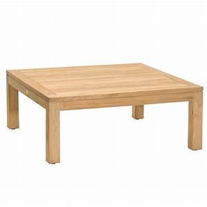 Table Exterieur En Bois : table basse exterieur bois de teck carr e 80cm ~ Teatrodelosmanantiales.com Idées de Décoration