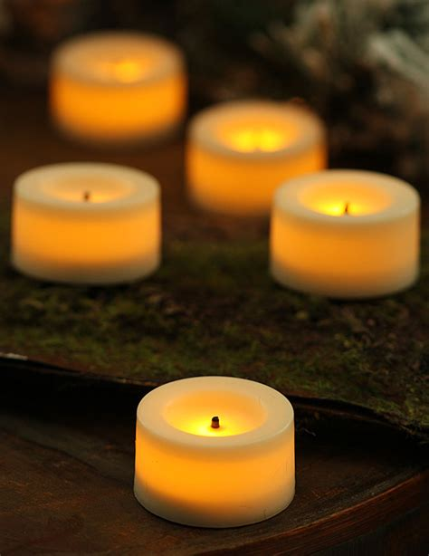 battery tea lights 9 pack 75 inch candle impressions flameless