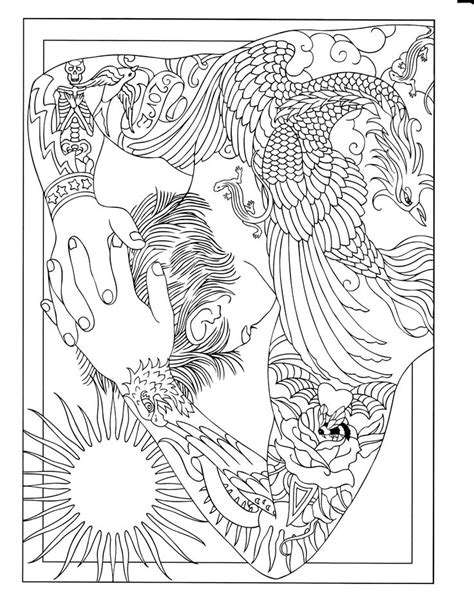 17 Best images about Body Art Coloring Pages on Pinterest