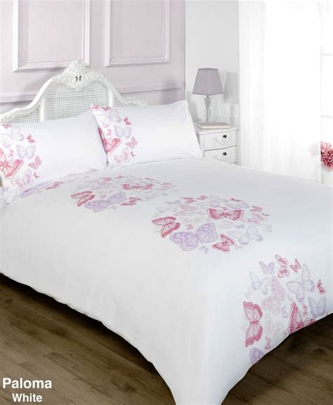 Pink And White Duvet Set by White Pink And Lilac Butterfly Duvet Cover Bedding