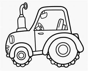 Traktor, Ausmalbilder, Einfach