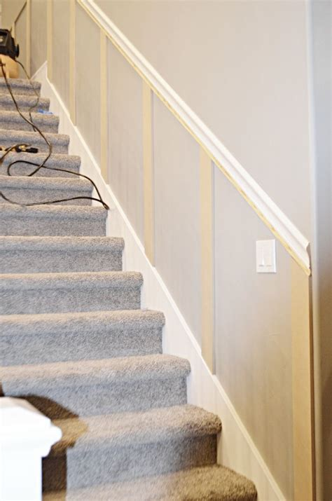 staircase makeover   install molding staircase