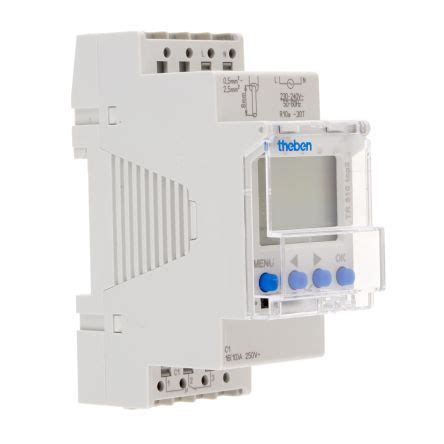 theben tr 610 top2 tr 610 top 2 theben 1 channel digital din rail switch