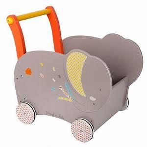 Chariot Bois Bébé : chariot de marche papoum janod jouets en bois bebe ~ Teatrodelosmanantiales.com Idées de Décoration