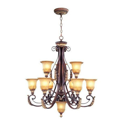 bronze chandelier with accents livex lighting 6 light verona bronze chandelier with aged