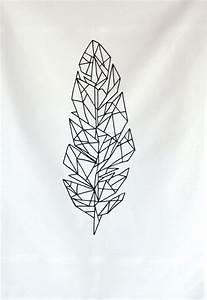 Dessin De Plume Facile : dessin tattoo feminin plume geometrique tatouage femme ~ Melissatoandfro.com Idées de Décoration