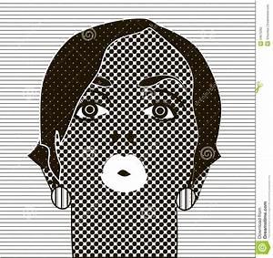 Fille Noir Et Blanc : noir et blanc dessin le visage de la fille illustration de ~ Melissatoandfro.com Idées de Décoration