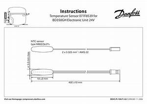 Danfoss Temperature Sensor 077f8539 For Bd350gh Electronic