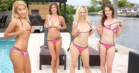 Four Naked Beach Girls Fucking After Playing Volleyball