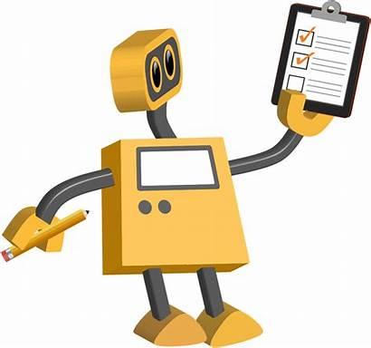 Robot Clipart Checklist Ear Transparent Technology Cartoon