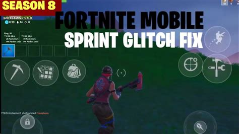 fortnite mobile sprint glitch fix   run  season