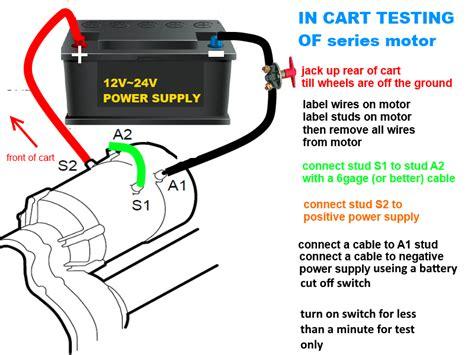Electric How Test Golf Cart Motor Wild