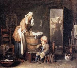 Laun Jean Baptiste Simeon Chardin Painting in Oil for Sale