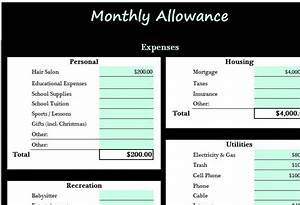 Sales Plan Excel Monthly Allowance Template My Excel Templates
