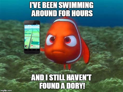 Finding Nemo Memes - nemo just wants to catch em all imgflip